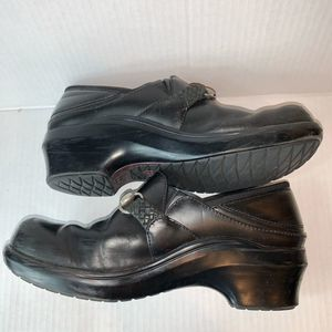 Ariat Womens Del Mar Leather Clogs Black 8.5B